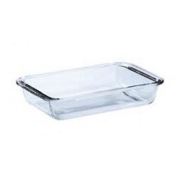 Roxx Glass Rectangle Plate, 3 litre 1-Piece, Clear