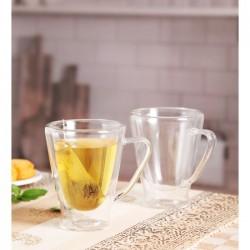 Roxx Bodrum Glass Cup 200ml, 2Pc Set