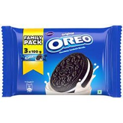 Cadbury Oreo Original Chocolatey Biscuit With Vanilla 3*100Gm