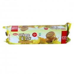 Dukes Creme 4 Fun Pineapple Flavoured Sandwich Biscuits 150Gm