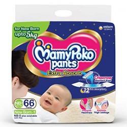 Mamypoko Pants Extra Absorb NB-1 66 Pants Upto 5Kg