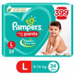Pamper Baby Dry Pants L-24(9-14kg)