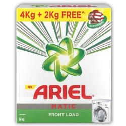 Ariel Matic Front Load 4kg + 2kg Free + 1 Litre Liquid Free