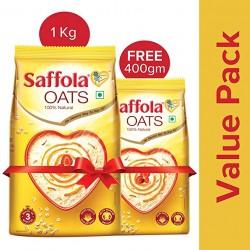 Saffola natural oats 1kg+400g free