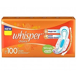 Whisper Choice Wing 20 Pads