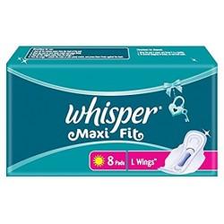 Whisper Maxi Fit L Wings 8 Pads