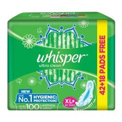 Whisper Ultra Clean Xl+ 60Pads