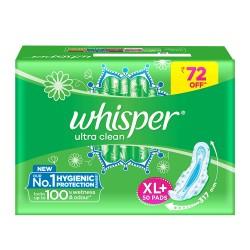Whisper Ultra Clean XL 50Pcs