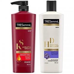 TRESemme Keratin Smooth Shampoo 580ml +Conditioner 190ml