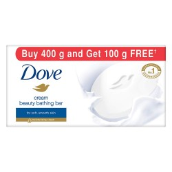 Dove Cream Beauty Bathing Bar, 100gm (Buy 4 Get 1 Free)