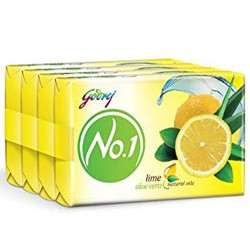 Godrej No.1 Alovera & Lime Soap 4x150gm