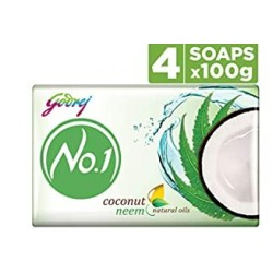 Godrej No.1 Coconut & Neem Soap 4x100gm