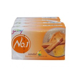 Godrej No.1 Sandal & Turmeric Soap 4x125gm