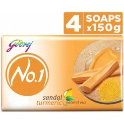 Godrej No.1 Sandal & Turmeric Soap 4x150gm