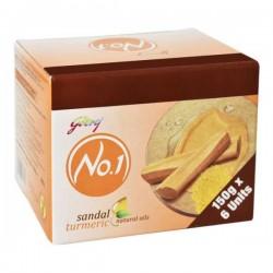 Godrej No 1 Sandal & Turmeric Soap 6*150Gm