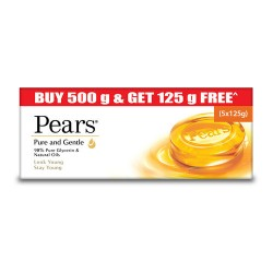 Pears Pure Gentle 5*125gm