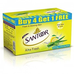 Santoor Aloe Vera & Lime Soap 5*125gm