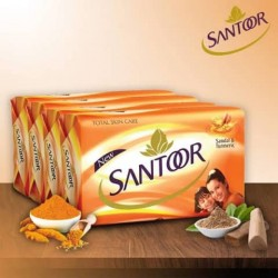Santoor Sandal Turmeric 4 Soap Of 125gm