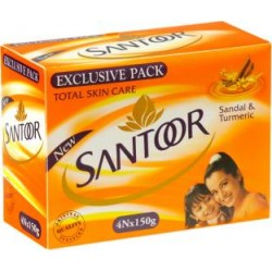 Santoor Sandal Turmeric 4*150gm