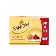 Santoor Gold Soap (3+1) 500gm