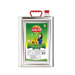 Gulab Sunflower Oil Tin 15 litre