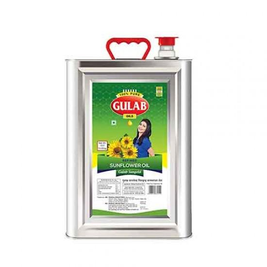 Gulab Sunflower Oil Tin 15 litre