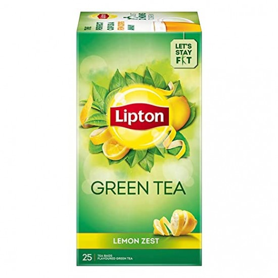 Lipton Green Tea Lemon Zest 25 Tea Bags