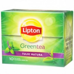 Lipton Green Tea Tulsi Natural 10 Tea Bags