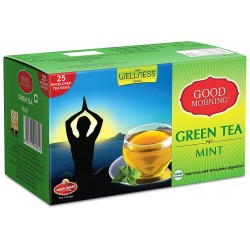 Wagh Bakri Good Morning Green Tea Mint Tea Bags