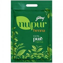 Godrej Nupur – 100% Pure Henna (Mehendi) | Natural Conditioning and Anti-Dandruff Hair Colour Solution, 400gm