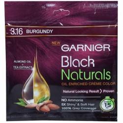 Garnier Black Naturals Oil Enriched Cream Hair Colour 3.16 Burgundy (20 g + 20 ml)