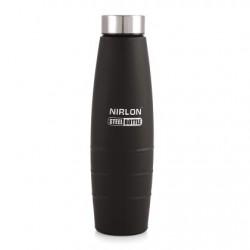 Nirlon Black Stainless Steel Water Bottle 1000ml