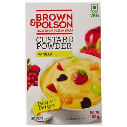 Brown N Polson Custard Powder Vanilla 100Gm