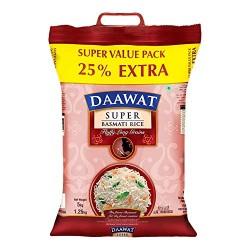 Daawat Super Basmati Rice (5+1.25)kg Free