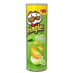 Kelloggs Pringles Cream and Onion 110Gm