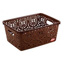 Nayasa Flower Storage Plastic Basket Medium (29 cm X 21 cm X 14 cm)