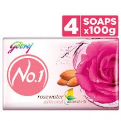 Godrej No.1 Rose Water Soap 4x100gm