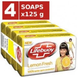 Lifebuoy Lemon Soap 4x125gm
