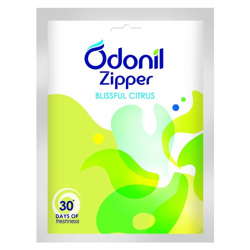 Odonil Bathroom Air Freshener Zipper - Blissful Citrus 10gm