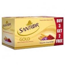 Santoor Goldsss Soap (3+2) 525gm