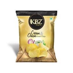 KBZ Cream & Onion Potato Chips 145Gm