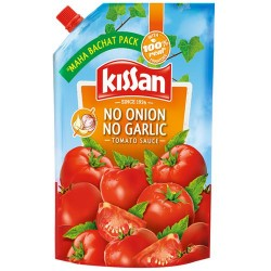 Kissan No Onion No Garlic Tomato Sauce Doypack 950gm